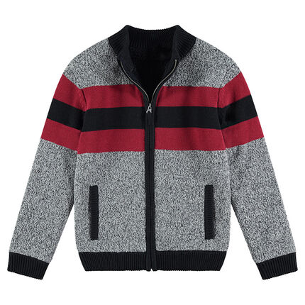 Junior - Gilet en tricot twisté avec doublure en sherpa