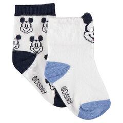 Lot de 2 paires de chaussettes assorties avec Mickey ©Disney en jacquard