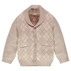 Gilet en tricot à motif jacquard