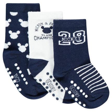Lot de 3 paires de chaussettes motif Disney Mickey en jacquard