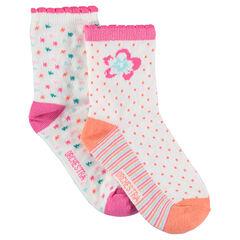 Lot de 2 paires de chaussettes assorties avec motifs jacquard colorés