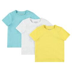 fe74e12de4c0e Lot de 3 tee-shirt manches courtes unis