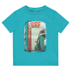 d136ded6bbb78 Tee-shirt manches courtes en jersey avec print fantaisie