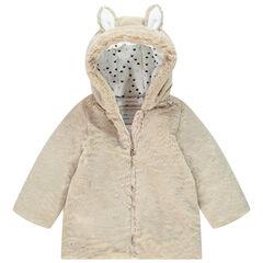 Manteau à capuche en fausse fourrure pour bébé fille , Orchestra