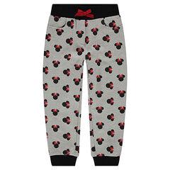 Pantalon de jogging en molleton avec serti Minnie ©Disney all-over