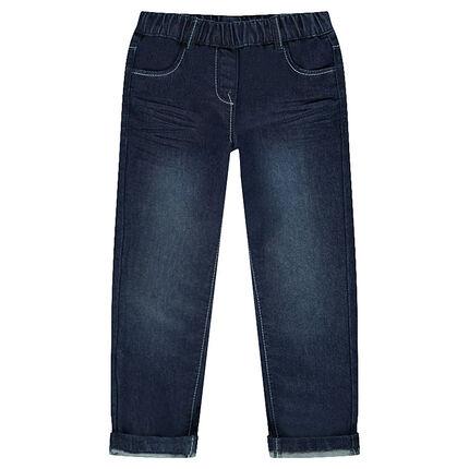 Jeans loose à taille élastiquée