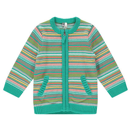 Gilet en tricot rayé