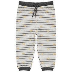 Pantalon de jogging en molleton rayé print Simba Roi Lion Disney