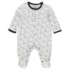 Dors-bien en jersey avec oursons imprimés all-over