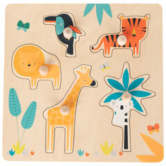 Puzzle en bois Crazy Jungle 5pcs , Prémaman
