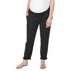 Pantalon de grossesse avec micro imprimé et poches zippées