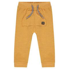 Pantalon de jogging en molleton avec poche kangourou