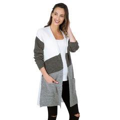 Gilet de grossesse long en tricot
