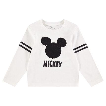 Tee-shirt manches longues en jersey avec Mickey ©Disney en sequins magiques
