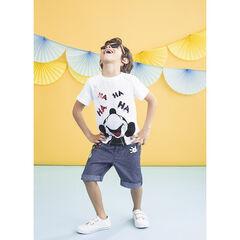 T-shirt manches courtes print Mickey Disney à sequins magiques