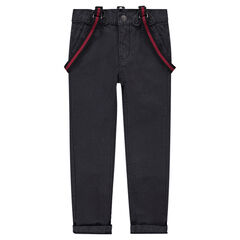 Junior - Pantalon en coton surteint avec bretelles amovibles