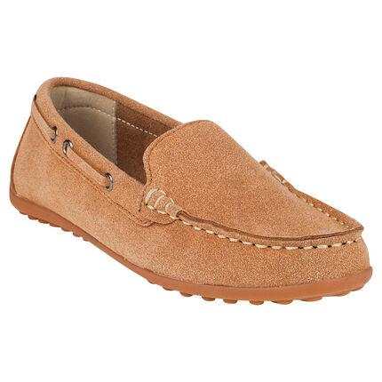 Chaussures bateau aspect cuir suédé du 28 au 35