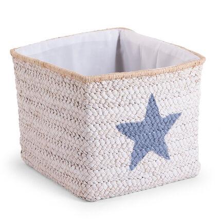 Panier paille tresse 30 x 30 x 33 cm White Star & Cloud