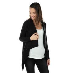 Gilet de grossesse en tricot à pans fantaisie