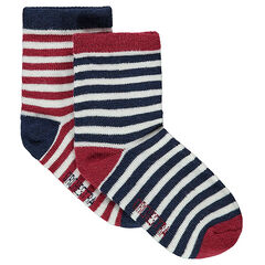 Lot de 2 paires de chaussettes rayées all-over