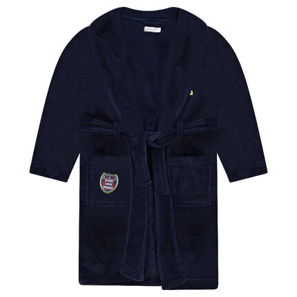 Junior - Robe de chambre en sherpa avec badges patchés