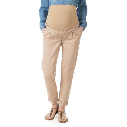 Pantalon chino de grossesse avec bandeau haut
