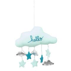 Mobile forme nuage ouatiné avec petites suspensions