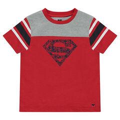 Tee-shirt manches courtes en jersey print ©Warner Superman