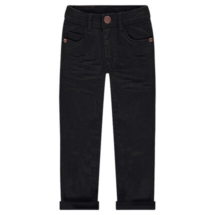 Pantalon en twill coupe slim effet crinkle