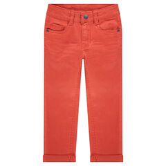 Pantalon effet crinkle avec poche à inscription reliéfée