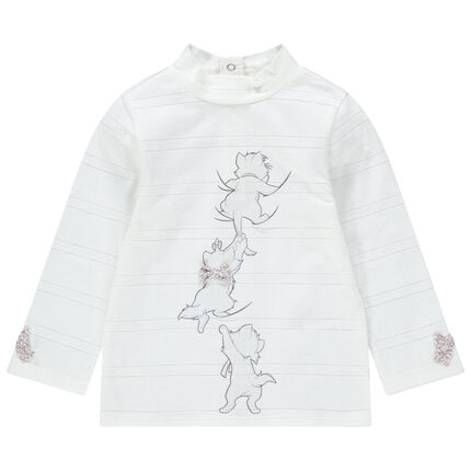Sous-pull col cheminée print Aristochats Disney