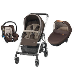 Poussette trio Streety Amber - Earth Brown