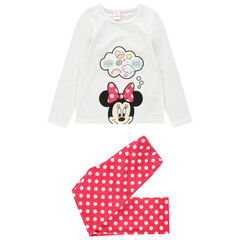Pyjama en velours print Minnie Disney