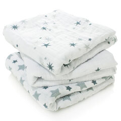 Lot de 3 draps multi-usage 70x70cm