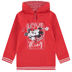Sweat à capuche en molleton long avec print pailleté Mickey et Minnie ©Disney