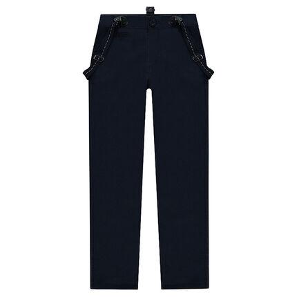 Junior - Pantalon en twill avec bretelles réglables amovibles