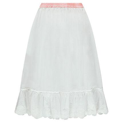 Junior - Jupe longue en voile de coton fantaisie avec taille brillante