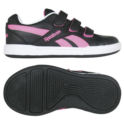 Reebok Royal Advance - Baskets basses noires et roses
