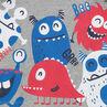Tee-shirt manches courtes en jersey avec monstres colorés