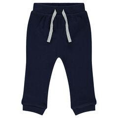 Pantalon de jogging en molleton fantaisie doublé jersey