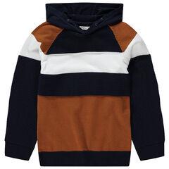 Pull en tricot à capuche avec maille ottoman