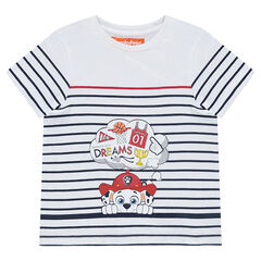 Tee-shirt manches courtes rayé avec print Marcus Pat' Patrouille Nickelodeon™