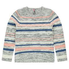 Junior - Pull en tricot à rayures en jacquard