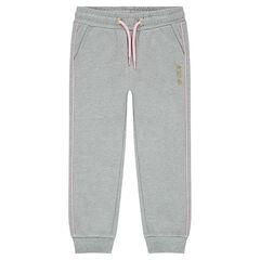 Junior - Pantalon de jogging en molleton avec passepoils contrastés