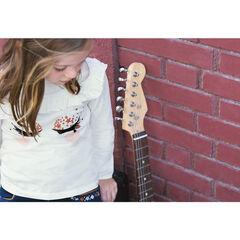 Tee-shirt manches longues en jersey avec cils effet velours