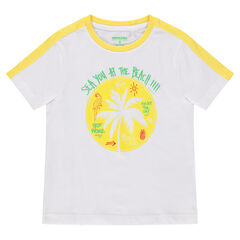 Tee-shirt manches courtes avec palmier printé