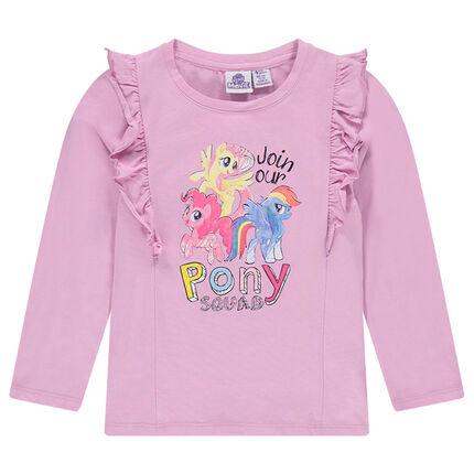 Tee-shirt avec volants et print My Little Poney ©2017 Hasbro