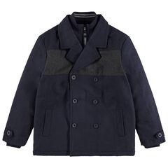 Junior - Parka en drap de laine à double col