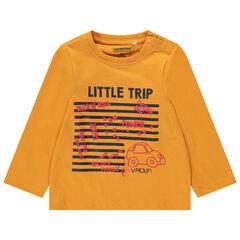 T-shirt manches longues en coton bio avec motif printé