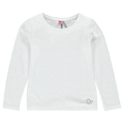 Junior - Tee-shirt manches longues en jersey dévoré